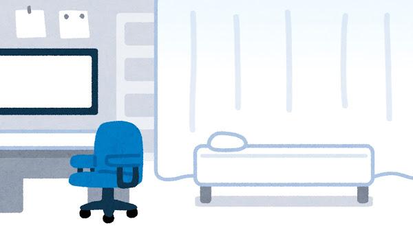 医院の診察室の絵